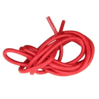 Red Round Waxed Shoe Laces