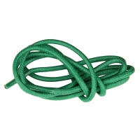 Green Round Waxed Shoe Laces