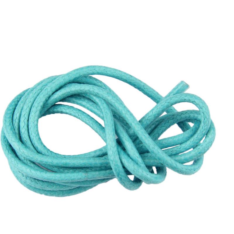 Lacets ronds cirés Turquoise