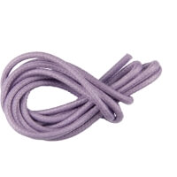 Lavender Round Waxed Shoe Laces
