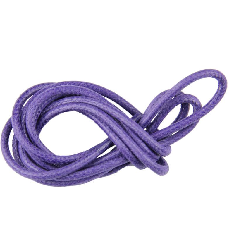 Lacets ronds cirés Violet