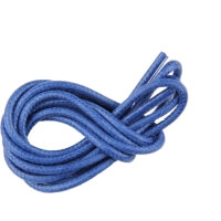 Blue Round Waxed Shoe Laces