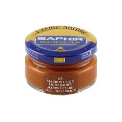 Cirage marron clair SAPHIR - Crème Surfine