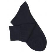 Navy Blue Cotton Lisle Socks