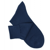 Petrol Blue Cotton Lisle Socks