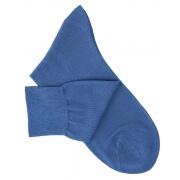 Chaussettes maille rasée bleu vif