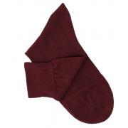 Burgundy Cotton Lisle Socks