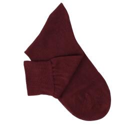 Chaussettes maille rasée bordeaux