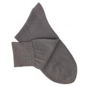 Grey Cotton Lisle Socks