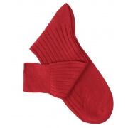 Chaussettes fil d'Ecosse rouge