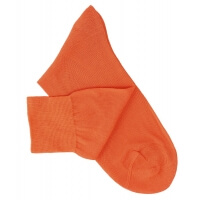 Chaussettes lisses fil d'Ecosse orange