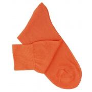 Orange Cotton Lisle Socks