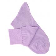 Chaussettes maille rasée parme