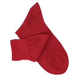 Red Cotton Lisle Socks