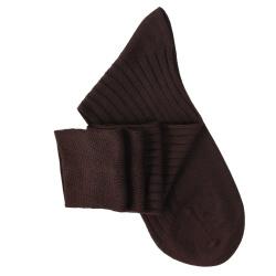 Brown Lisle Knee High Socks
