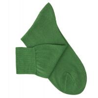 Chaussettes lisses fil d'Ecosse vert jardin