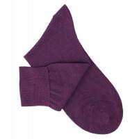 Chaussettes lisses fil d'Ecosse violet