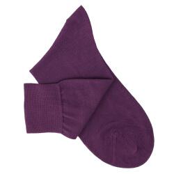 Purple Cotton Lisle Socks