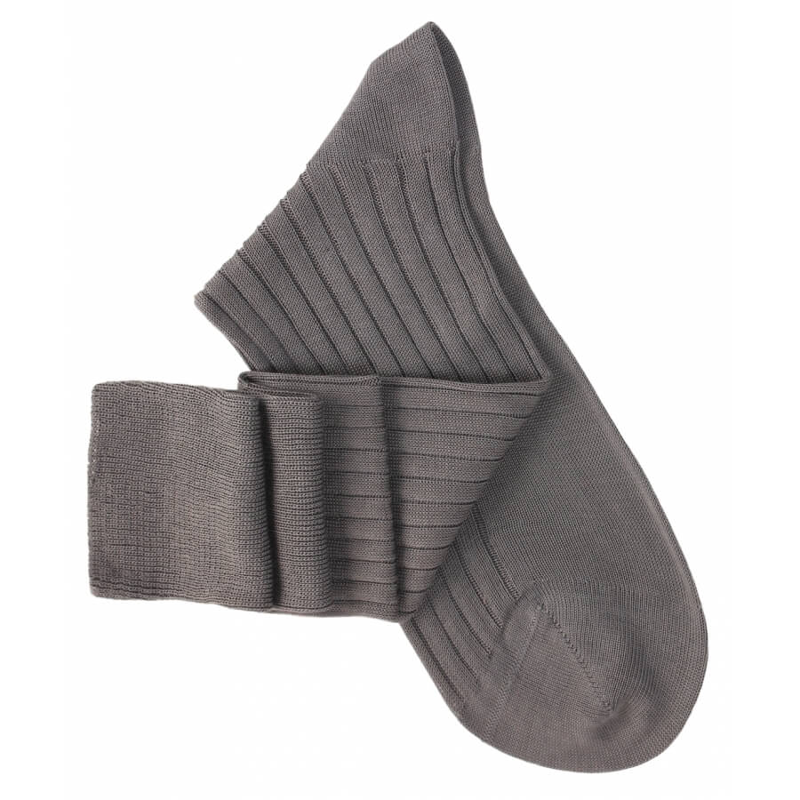Chaussettes mi-bas gris