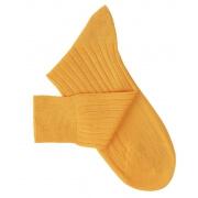 Yellow-Orange Lisle Socks