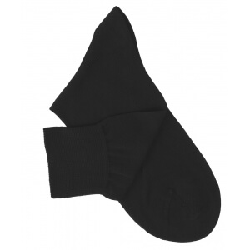 Chaussettes maille rasée noir