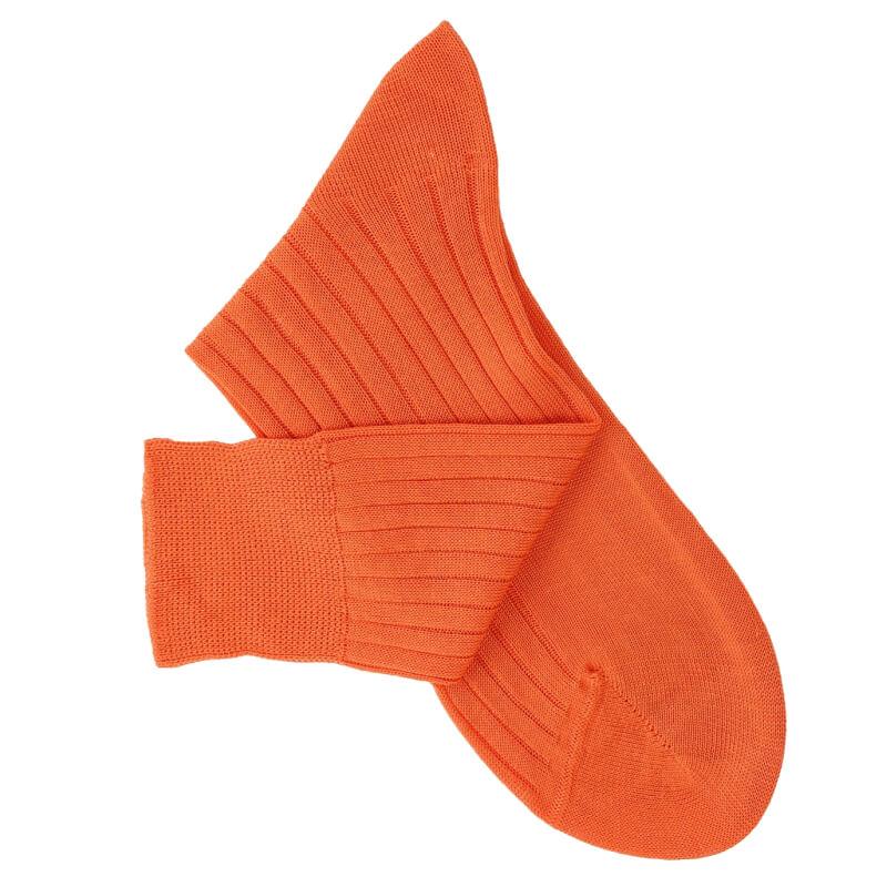 Chaussettes fil d'Ecosse orange