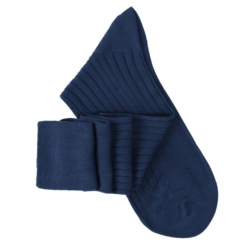Petrol Blue Knee High Socks