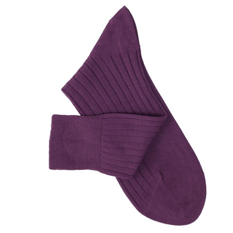 Purple Lisle Socks