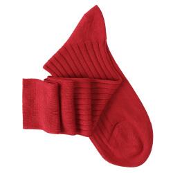 Chaussettes mi-bas rouge