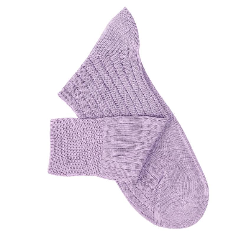 Chaussettes fil d'Ecosse parme