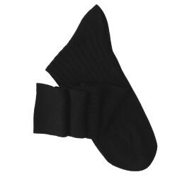 Black Lisle Knee High Socks