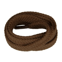 Medium Brown Flat Shoe Laces