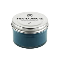 Monsieur Chaussure Teal Blue Shoe Cream