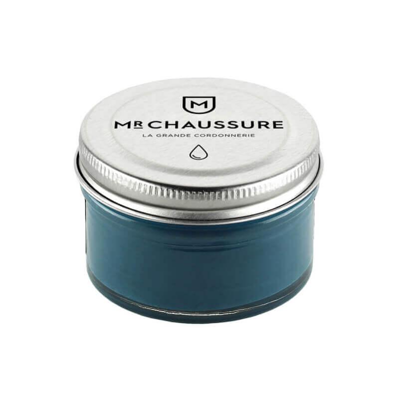 Monsieur Chaussure Teal Blue Shoe Cream