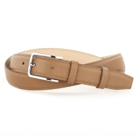Grained Leather Belt MC02 - Gold