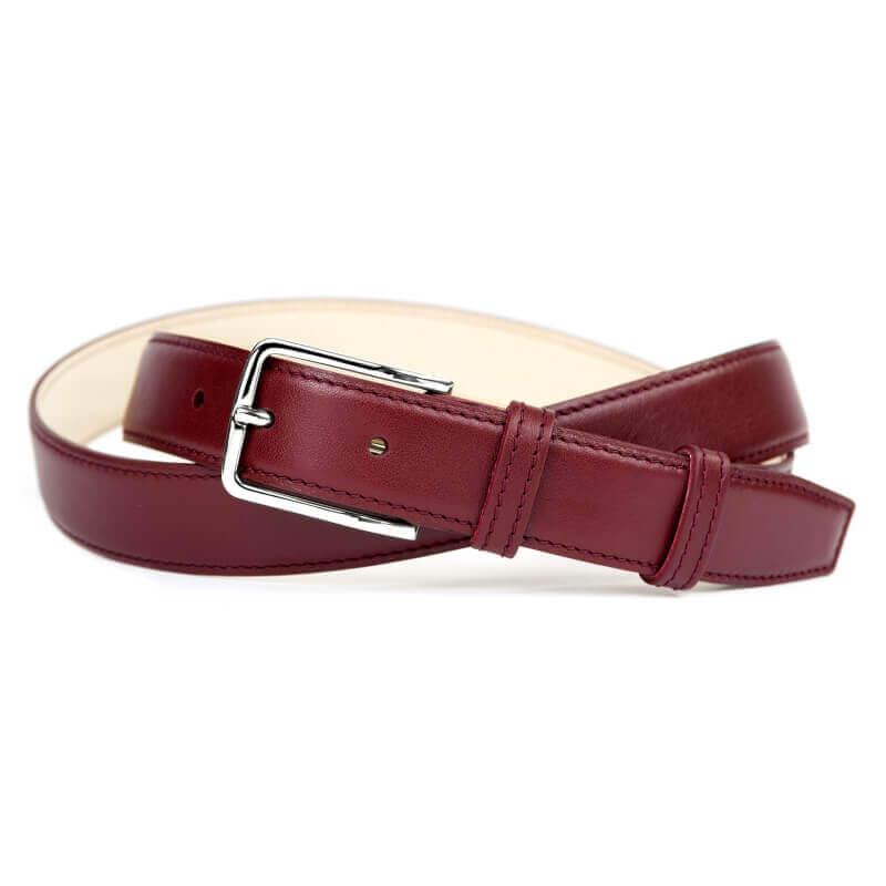 Leather Belt MC02 - Bordeaux