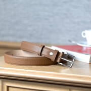Grained Leather Belt MC02 - Gold