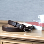 Grained Leather Belt MC02 - Brown