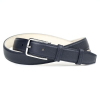 Grained Leather Belt MC02 - Navy Blue