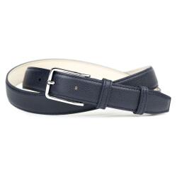 Grained Leather Belt MC02 - Navy Blue