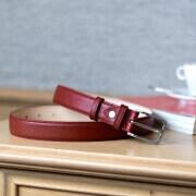 Grained Leather Belt MC02 - Garnet