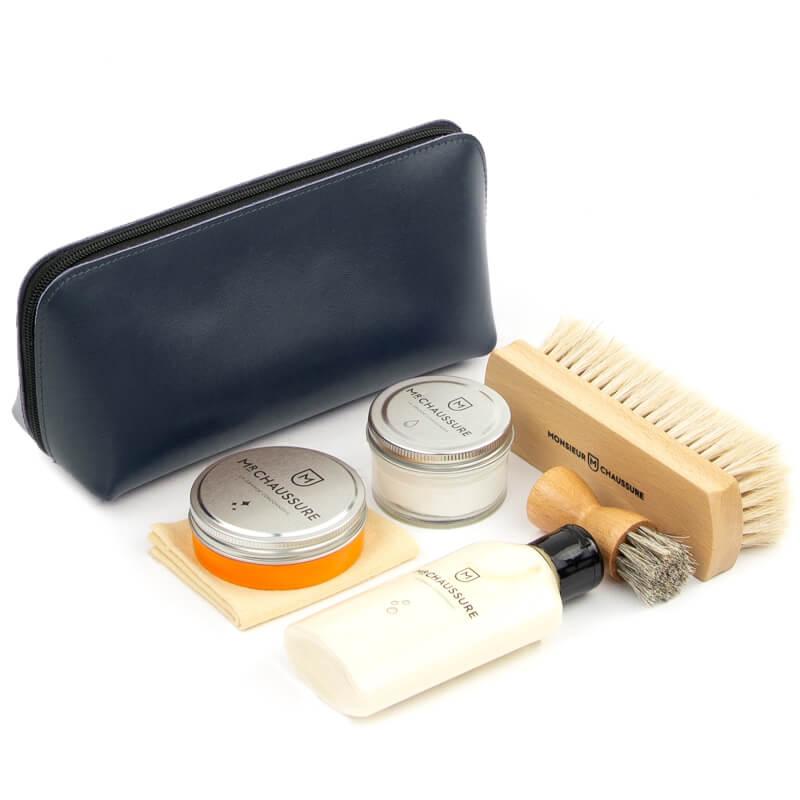 Navy Shoe Shine Leather Starter Kit