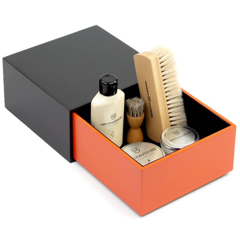 Orange Shoe Shine Leather Starter Kit