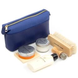 6 Piece Business Shoe Shine Kit Blue