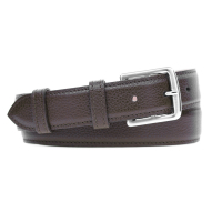 Grained Leather Belt MC03 - Brown