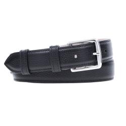 Grained Leather Belt MC03 - Black