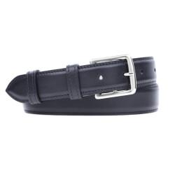 Leather Belt MC03 - Navy Blue