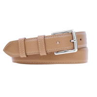 Grained Leather Belt MC03 - Gold