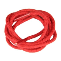 Red Fine Round Shoe Laces