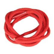 Lacets de couleur 100% coton : rouge